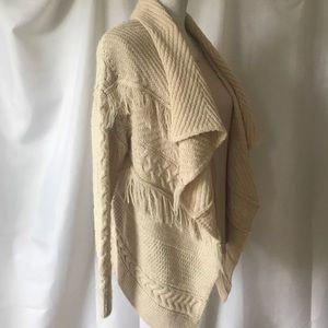 H&M Draped Woven Knit Cardigan